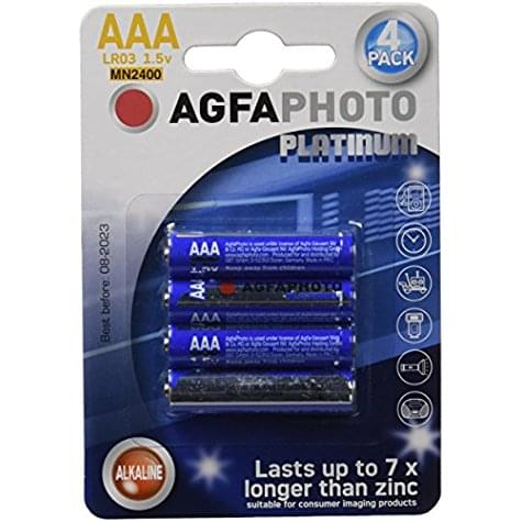 Lots de 4 piles AgfaPhoto Platinum AAA (LR03 1.5v)
