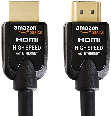 Lot de 2 câble HDMI AmazonBasics 2m (Haut débit / Ethernet / 3D)