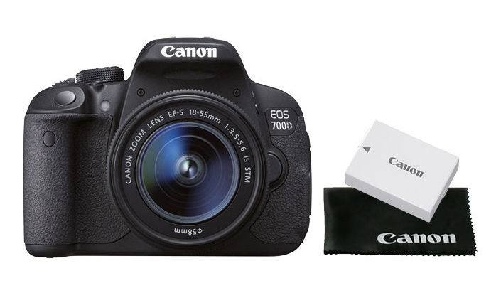 Reflex Canon EOS 700D + objectif 18-55mm + 2ème batterie (avec 75€ de bon d'achats)