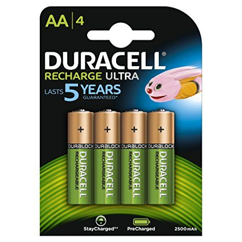 Lot de 4 piles rechargeables Duracell Recharge Ultra (AA / 2500 Mah)