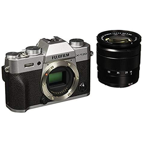 Hybride Fujifilm X-T20 + objectif XC 16-50mm (24,3 Mpix / 4K / argent)