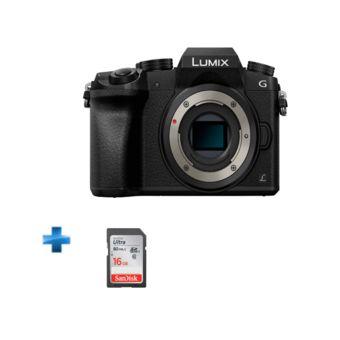 Panasonic Lumix G7 Silver + Carte SDHC SanDisk 16Go (avec ODR 100€)