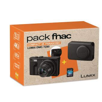 Pack Panasonic Lumix TZ80 + Etui de protection + SDHC 8 Go