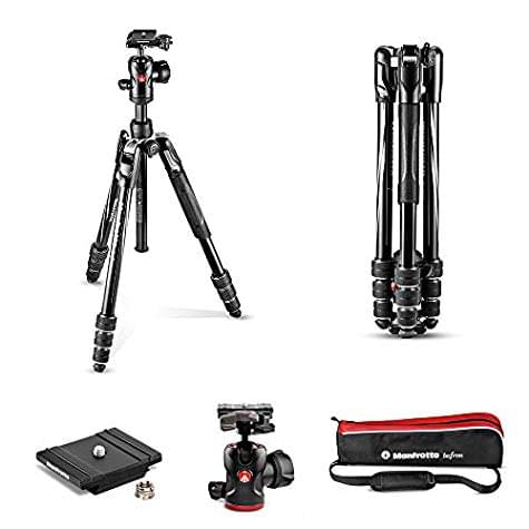 Manfrotto MKBFRTA4BK-BH Kit Trépied Befree Advanced aluminium noir