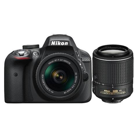 Kit Reflex Nikon D3300 + 18-55mm + 55-200mm