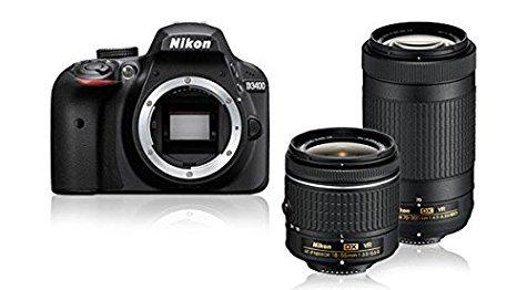 Reflex Nikon D3400 + DX 18-55mm VR + DX 70-300mm VR (avec ODR 50€)