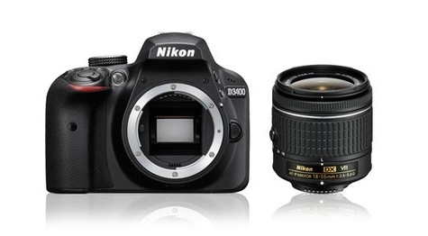 Reflex Nikon D3400 + objectif DX 18-55mm VR