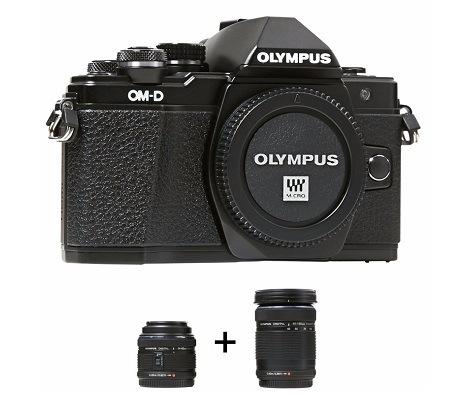 Hybride Olympus OM-D E-M10 Mark II + 2 objectifs (14-42mm + 40-150mm)