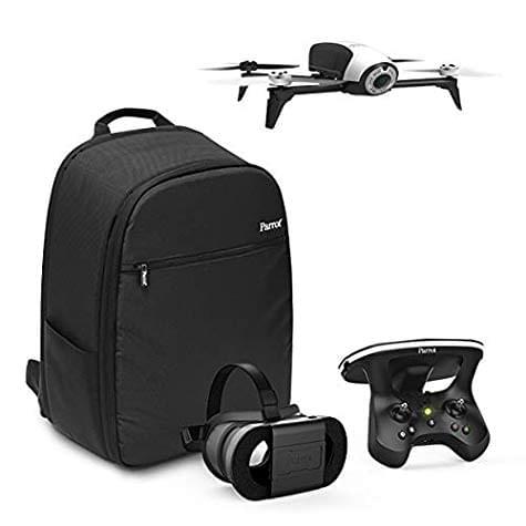 Drone Parrot Quadricoptère Bebop 2 + Lunette FPV + Skycontroller 2 + Sac à Dos + Follow-me