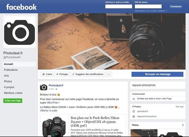 PhotoDeal.fr arrive sur Facebook !