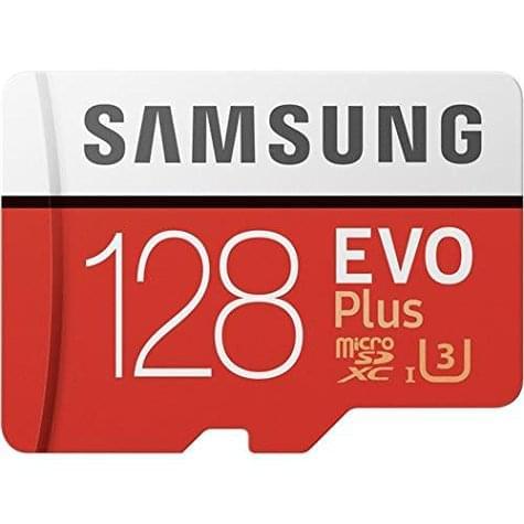 Samsung microSD Evo Plus 128 Go (U3 / 4K) avec adaptateur SD offert