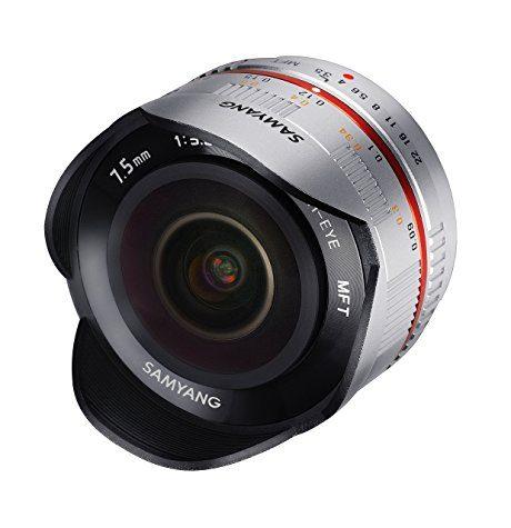 Objectif Samyang Fish-Eye 7,5mm f/3,5 (Silver ou Noir) pour Micro 4/3
