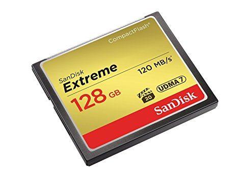 CompactFlash SanDisk Extreme 128 Go (UDMA 7 / 120 Mo/s)