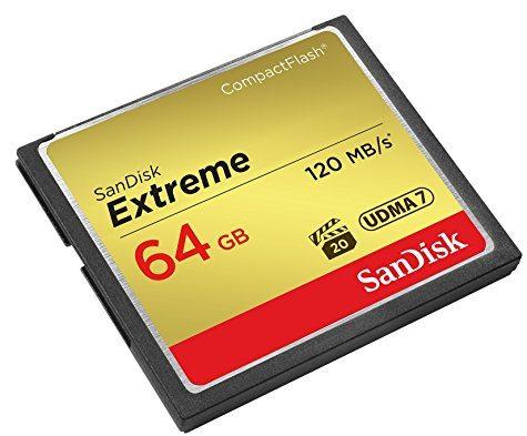 CompactFlash SanDisk Extreme 64 Go (UDMA 7 / 120 Mo/s)
