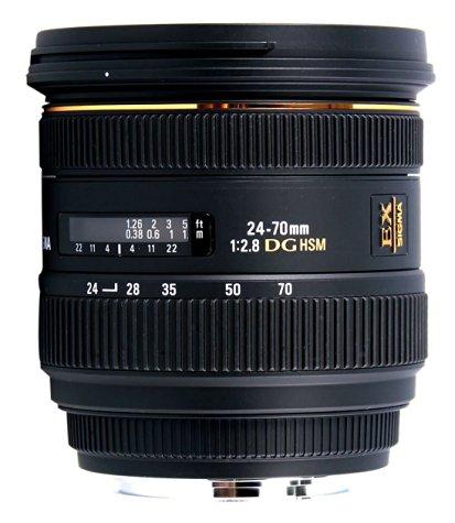 Objectif Sigma 24-70 mm F2,8 DG HSM EX pour Nikon / Canon